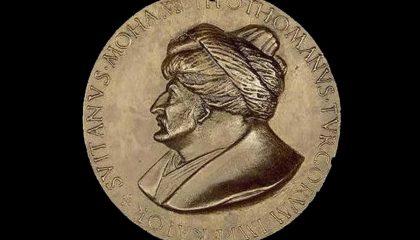 Münzen des Eroberers als römischer Kaiser