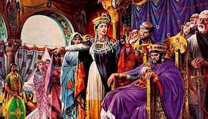Purpur Lila und römischer Kaiser