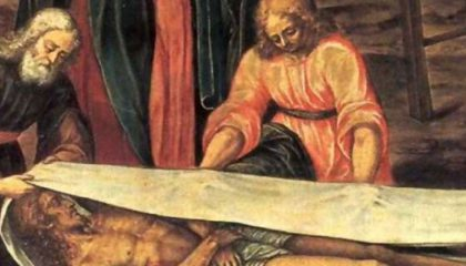 Turiner Grabtuch auf einer Malerei.